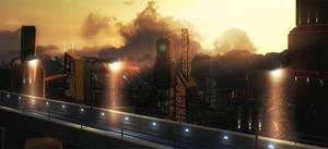 Starport City by kittomer