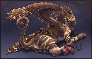 Riding Gryphon by kittomer