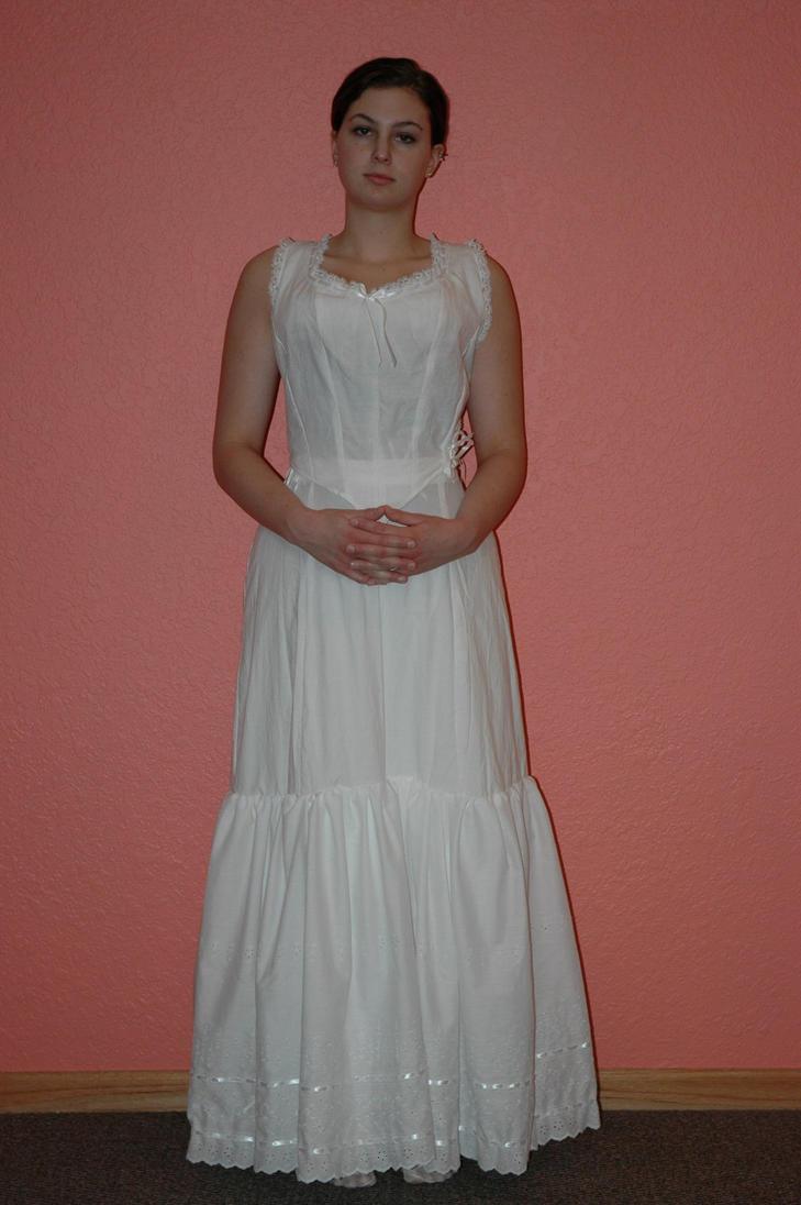 Corset Cover and Petticoat by immortalphoenix