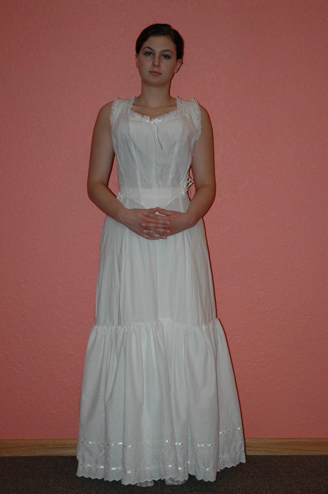 Corset Cover and Petticoat