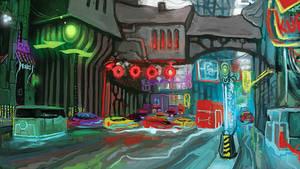 Fantasy Future City by Kwad-rat