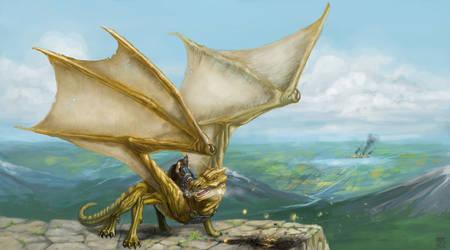 Dragon Rider by Kwad-rat