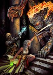 Assault on the Svarog Temple by Kwad-rat