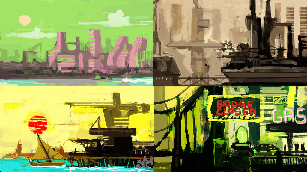 Quick city sketches by Kwad-rat