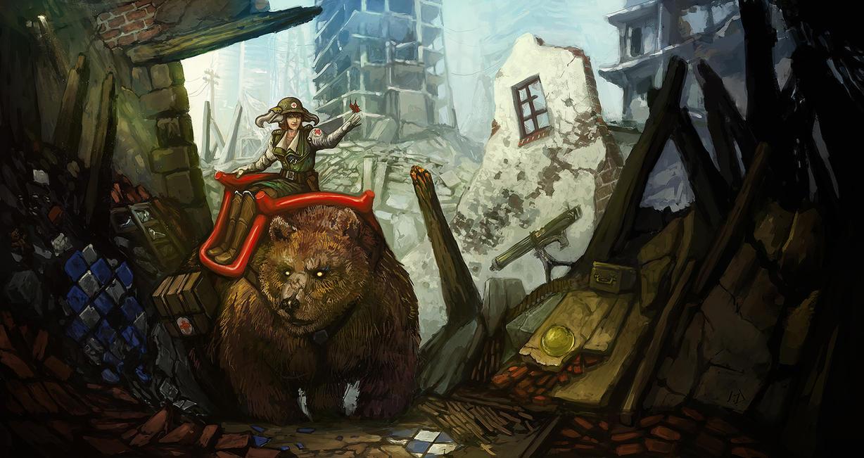 Bear Druid by Kwad-rat