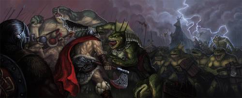 Fighting Lizards by Kwad-rat