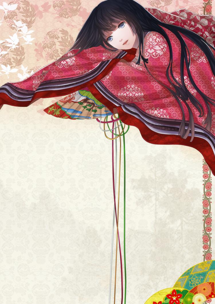 Lady in Junihitoe by Hachiretsu on DeviantArt