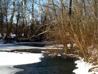 Half frozen creek by alicia86