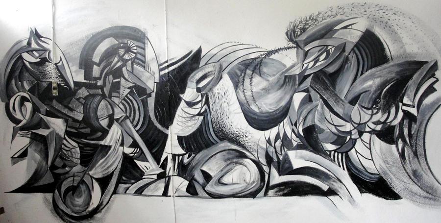mural efimero by PapyrUz-yaYan