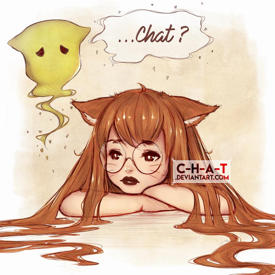 Nano et Chat sketch (+SPEEDPAINT) by C-H-A-T