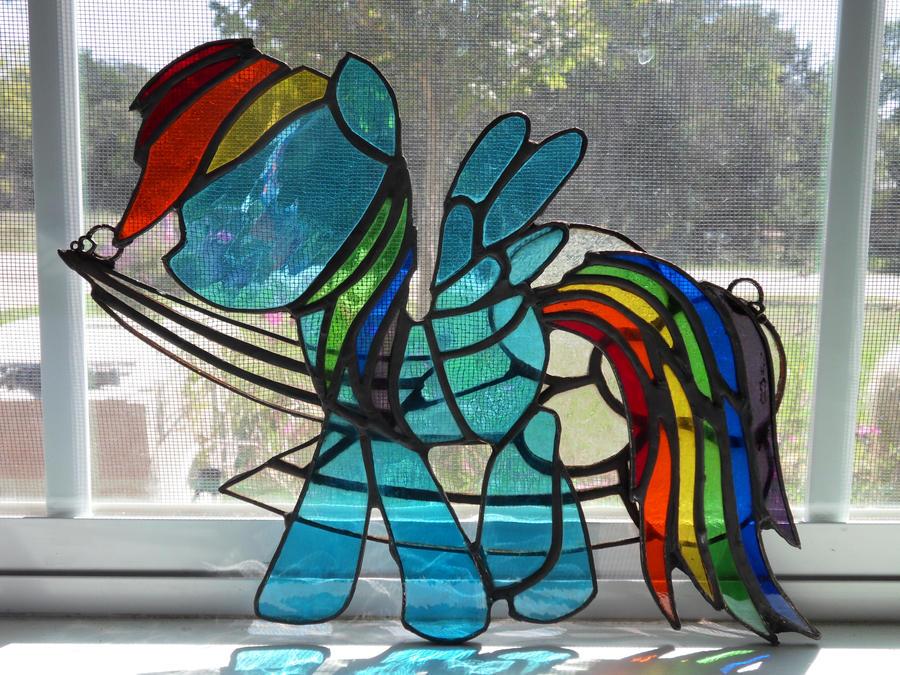 Rainbow Dash Stained Glass by WorldEdit on DeviantArt