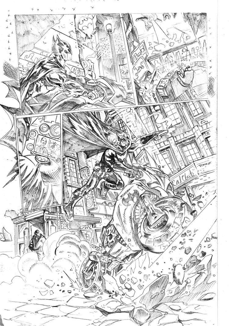Batman sample page  by joeljseguin