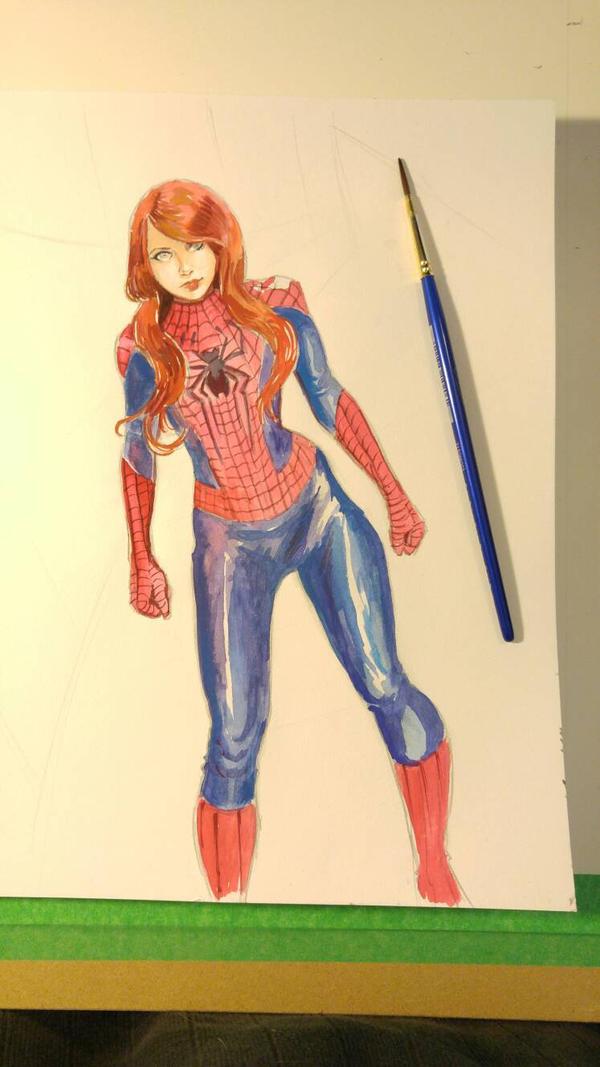 Spidergirl mj by joeljseguin