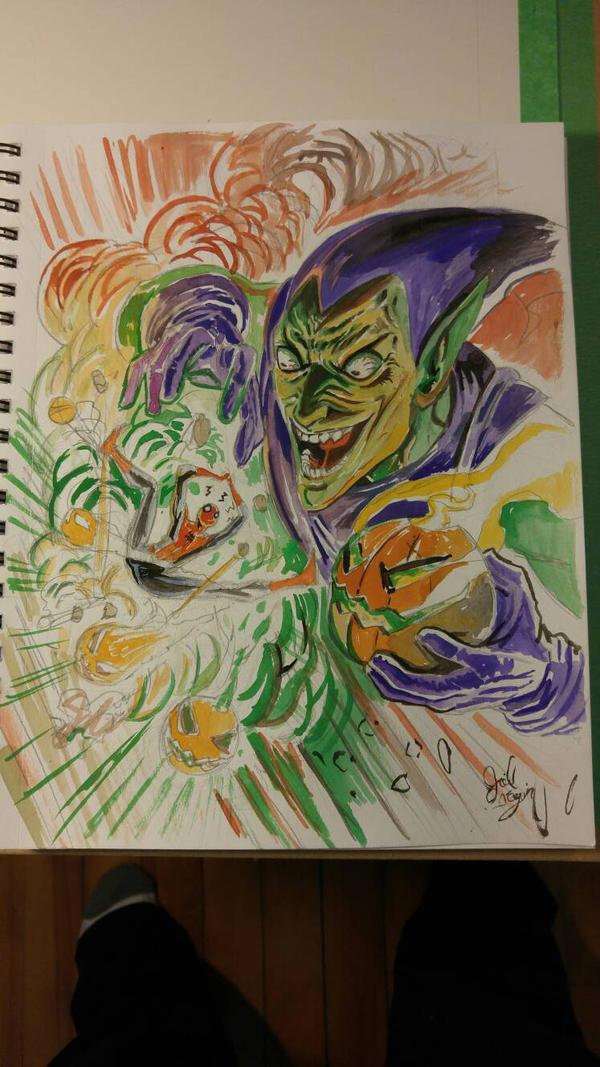 green goblin vs spidey by joeljseguin