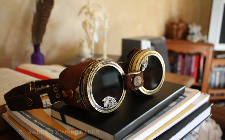 Steampunk Goggles by BlueLint on DeviantArt