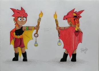 Amber Dragon de Fuego
