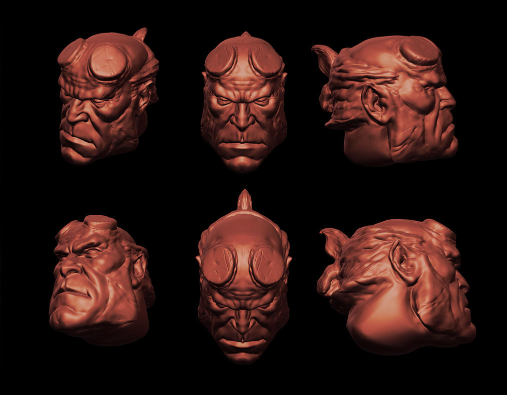 Hellboy unfinished by Atzinaghy
