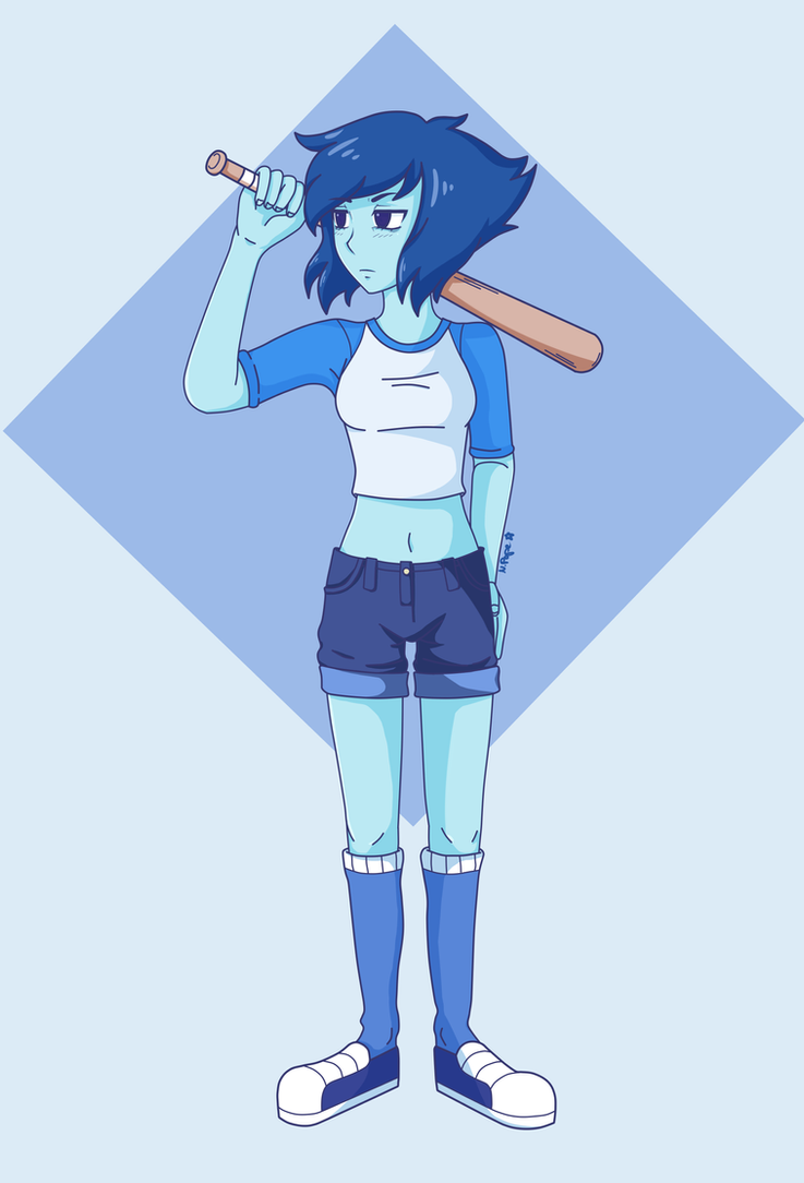 I usually don't draw full bodies but I thought I'd give it a try so there you go.  Btw as you can see I forgot to draw Lapis' baseball hat which is quite unfortunate but eh... I'm too lazy to ...