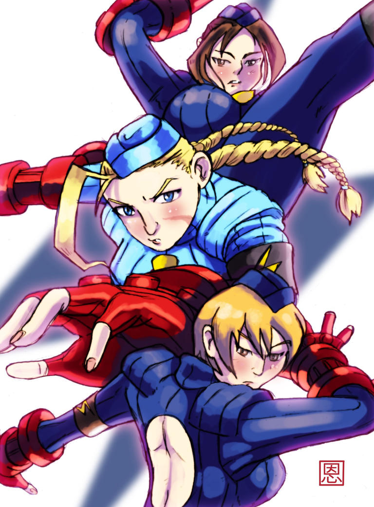 Triple KO - Shadaloo Dolls by Shadaloo1989