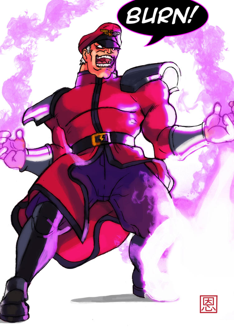 Burn! - M.Bison / Vega by Shadaloo1989