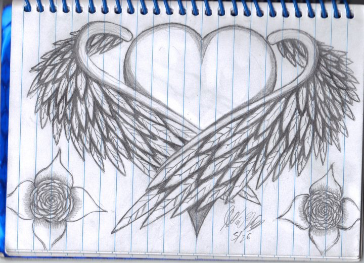 Heart With Wings by WhiteFireBird on DeviantArt