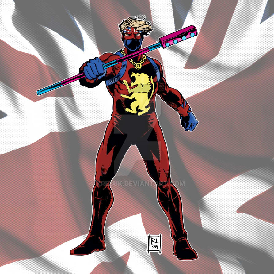 Captain Britain retro by kre8uk