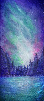 Northern Lights Watercolor