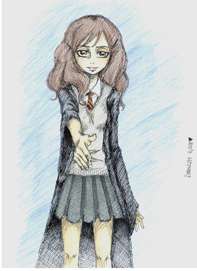 Hermione: 'Nice to meet you.' by Anrui219