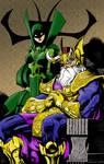 Odin and Hela Colored