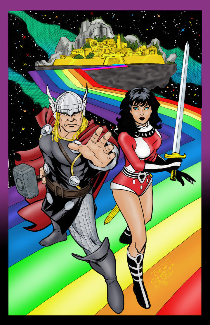 Thor and Lady Sif by statman71