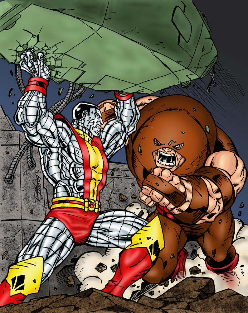 colossus battles juggernaut by statman71 on deviantart