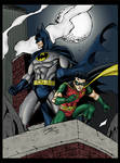 Batman and Robin on patrol