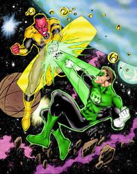 Green Lantern Space Battle by statman71