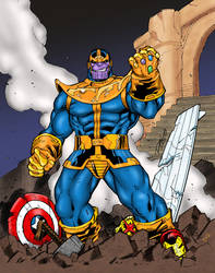Thanos Triumphant by statman71