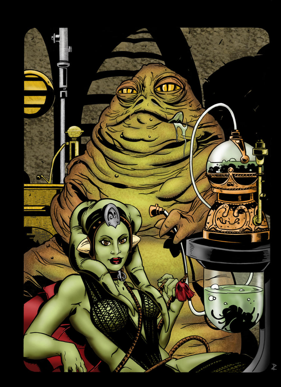 Jabba the Hutt and Oola