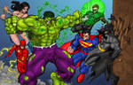 Hulk vs JLA