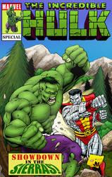 Ron Lim - Hulk v Colossus Cover Mockup by statman71