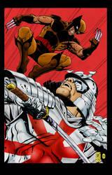 Wolverine Vs Silver Samurai by statman71