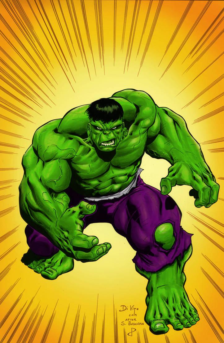 Hulk Sal Buscema Tribute by DiVito by statman71