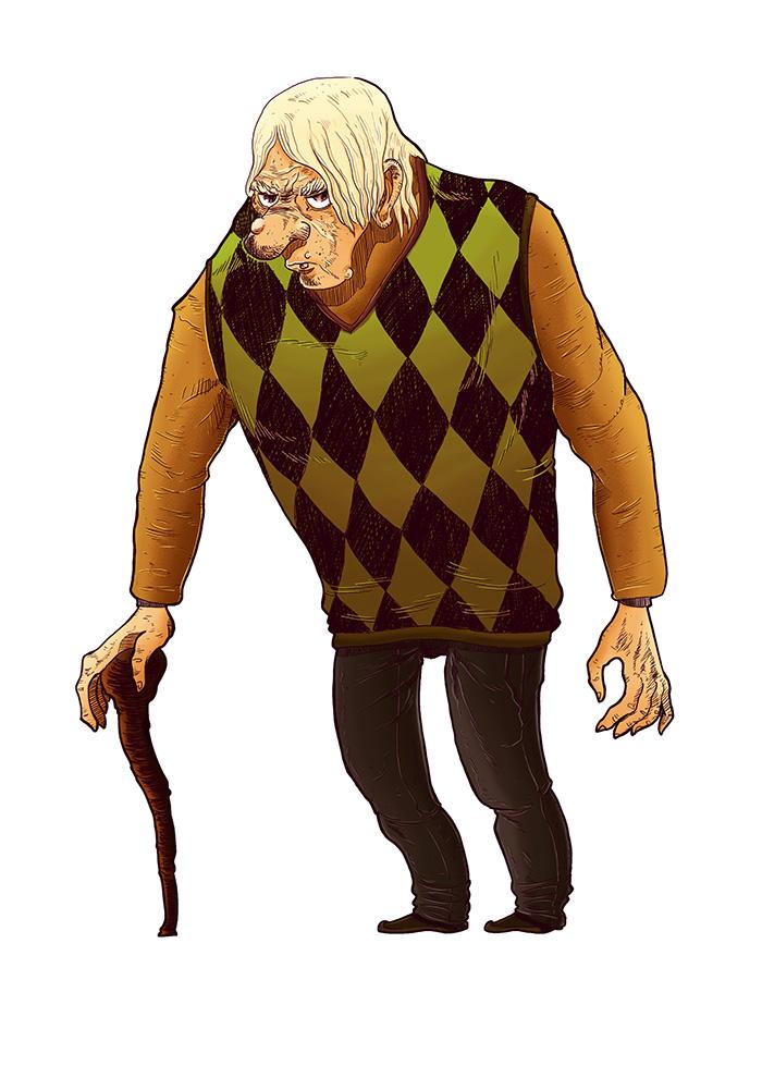 Horror Movies (The Creepy Old Man) by Leandro-Damasceno