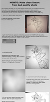 How to make clean lineart from photo by loentar