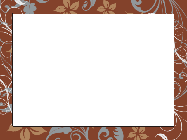 brown floral frame by jeaniem12