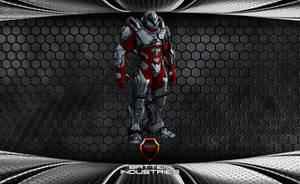 Crimson Storm Battlesuit by ParallaxAlteration