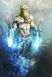 Zeus, Thunder God by cobaltplasma