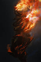 Firegolem, spitpaint by cobaltplasma