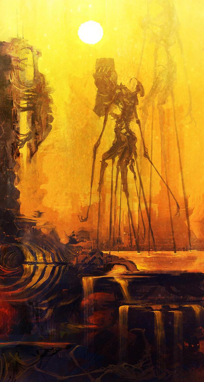 Junk Striders on Scrapworld by cobaltplasma