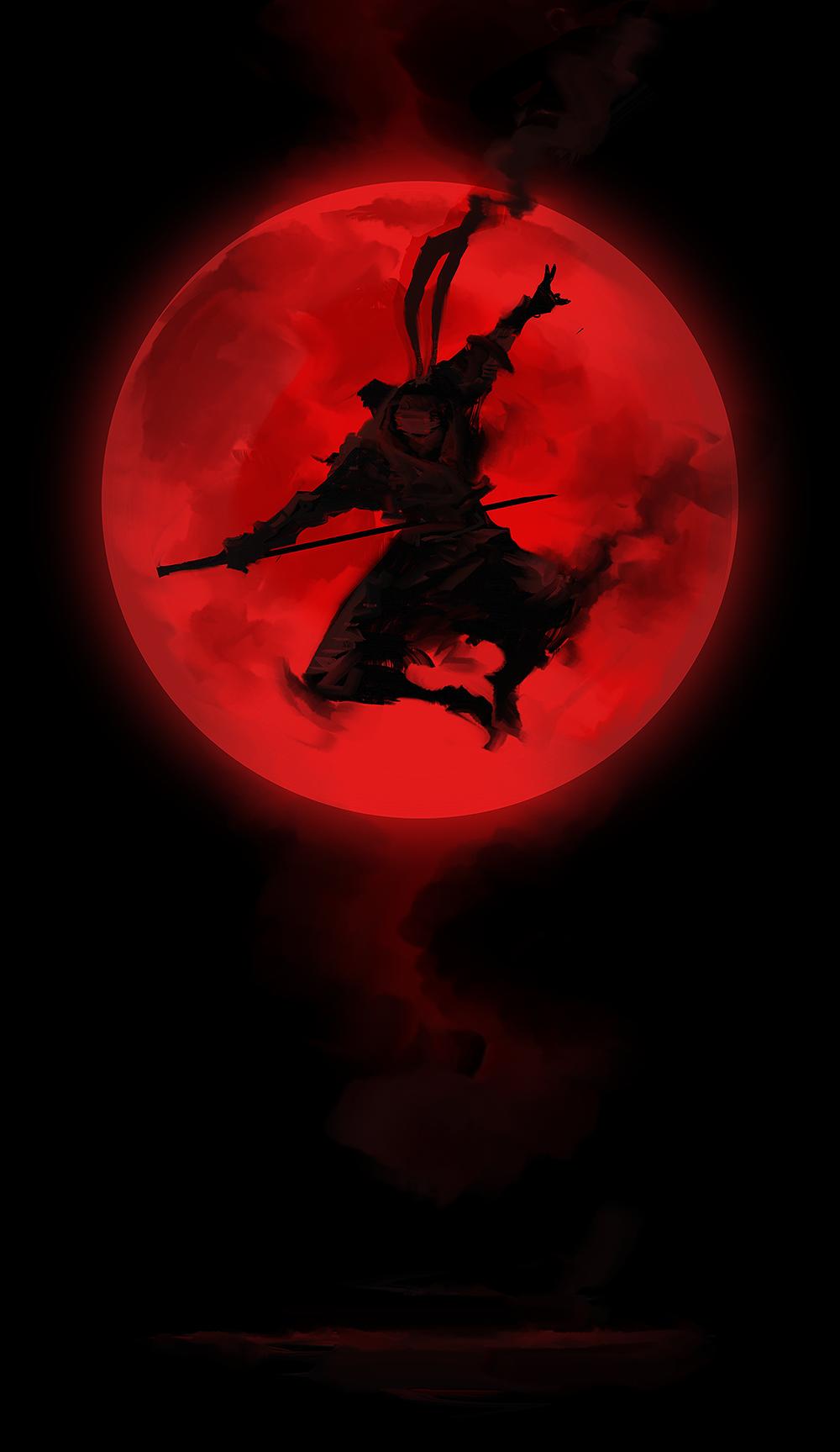 Red Moon Shinobi by cobaltplasma