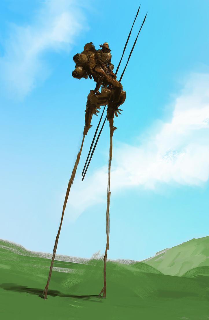 Stilt Walker by cobaltplasma