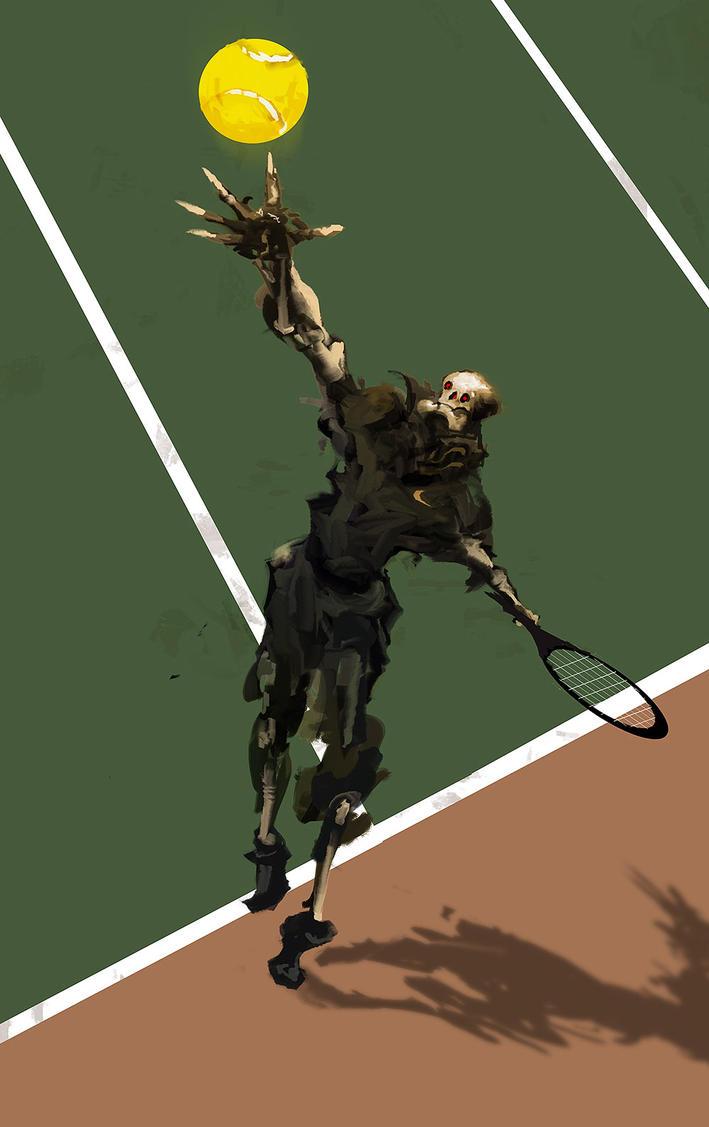 Death Tennis by cobaltplasma
