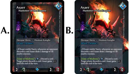 Card Frames : A or B